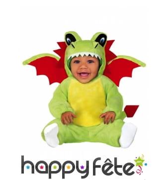 Combinaison de dragon vert pour bébé