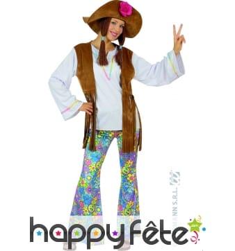 Costume de dame hippie woodstock