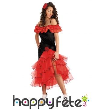 Costume de danseuse flameco rouge et noir