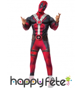 Costume de Deadpool musclé pour adulte