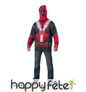 Costume de Deadpool pour homme avec cagoule