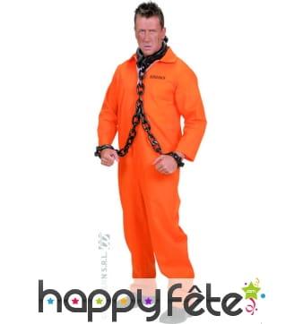 Costume de détenu orange