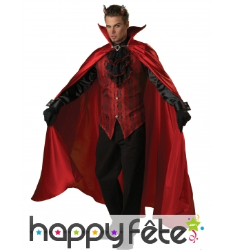 Costume de diable élégant avec cape, prémium