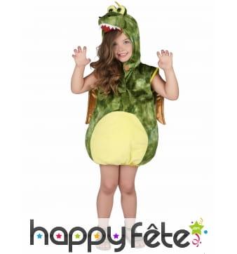 Costume de dinosaure vert pour enfant, rembourré