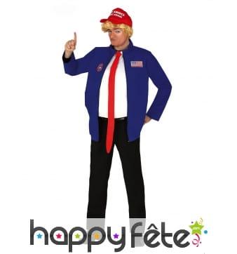 Costume de Donald Trump caricatural pour homme