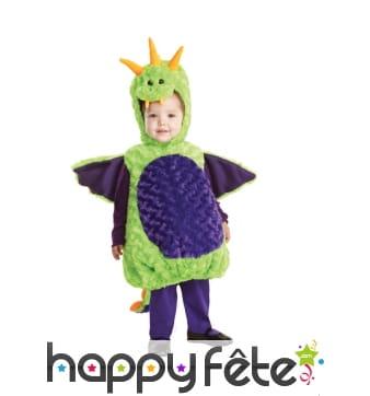 Costume de dragon en peluche pour enfant