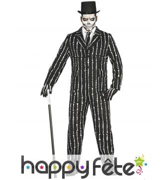 Costume du dandy Mr.Os skeleton pour homme