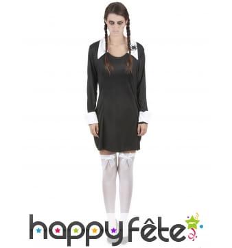 Costume d'écolière gothique pour femme