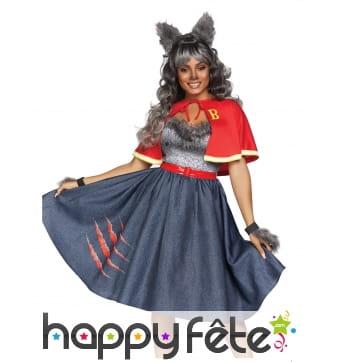 Costume d'écolière loup garou pour femme