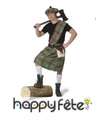 Costume d'écossais vert pour adulte