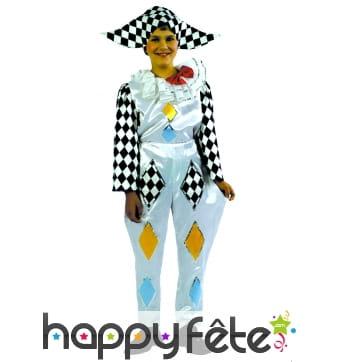 Costume d'enfant arlequin
