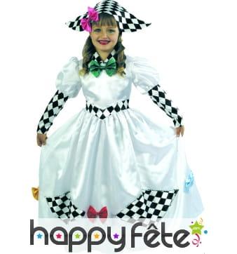 Costume d'enfant arlequine