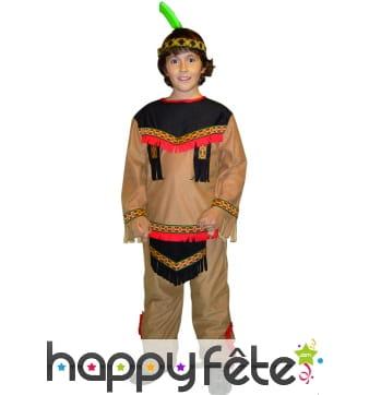 Costume d'enfant kiowa garcon