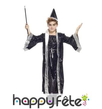Costume d'enfant magicien noir