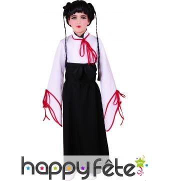 Costume d'enfant manga jupe noire