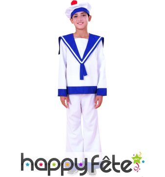Costume d'enfant marin