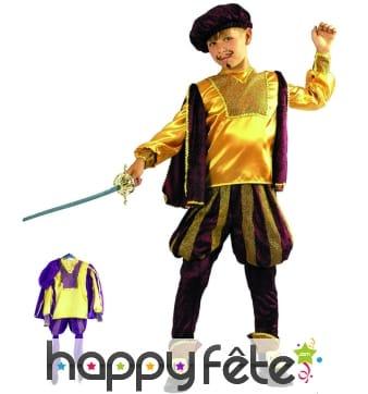 Costume d'enfant petit prince