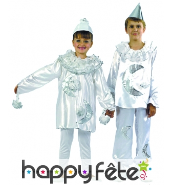 Costume d'enfant pierrot