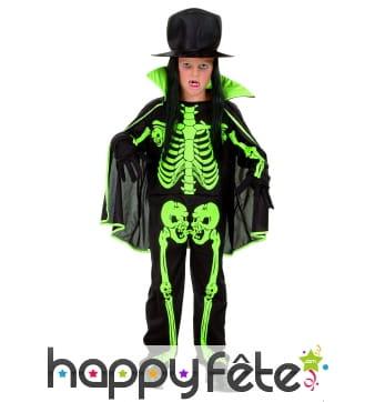 Costume d'enfant squelette
