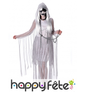 Costume de fantôme en lambeaux pour femme
