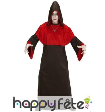 Costume de faucheur rouge et noir pour adulte