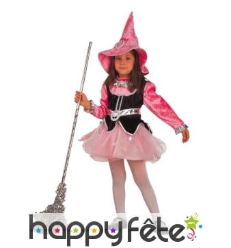 Costume de fée rose en tutu pour fillette
