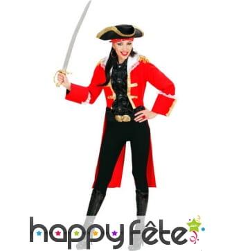 Costume de femme Capitain des pirates rouge