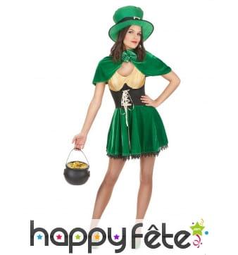 Costume de femme leprechaun