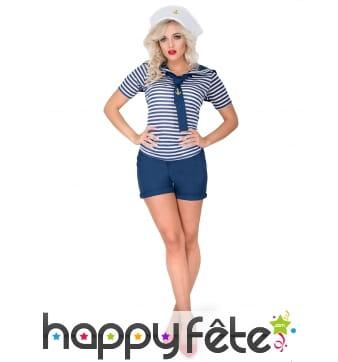 Costume de femme marin en petit short