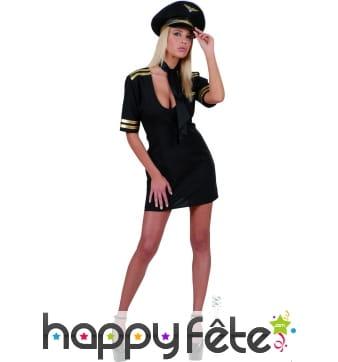 Costume de femme pilote sexy