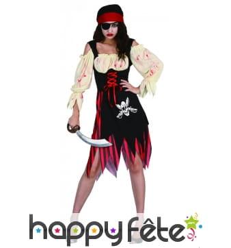 Costume de femme pirate ensanglanté