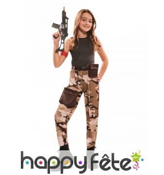 Costume de fille militaire pour enfant