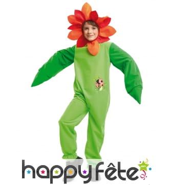 Costume de fleur pour enfant imprimé coccinelle