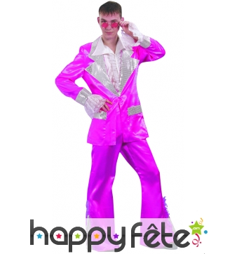 Costume disco fuschia