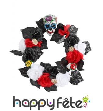 Couronne de fleurs Dia de los muertos, 47cm
