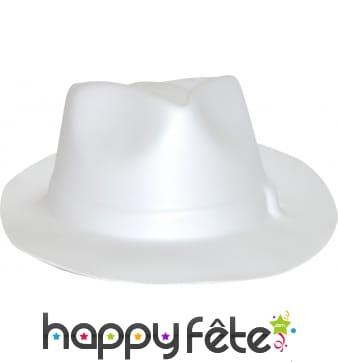 Chapeau de gangster eva blanc