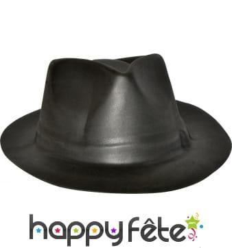 Chapeau de gangster eva noir