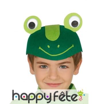 Coiffe de grenouille rigolote pour enfant