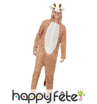 Combinaison de girafe pour adulte