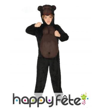 Combinaison de gorille avec capuche pour enfant