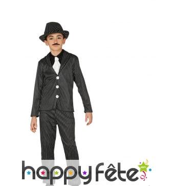 Costume de gangster de la prohibition pour garçon