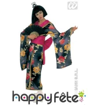 Costume de geisha en satin