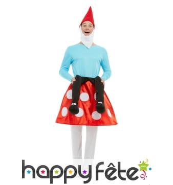 Costume de Gnome assis sur un champignon