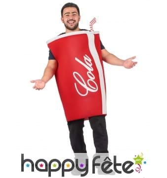 Costume de gobelet cola pour adulte