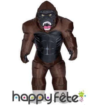 Costume de gorille gonflable pour adulte