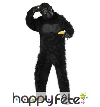 Costume de gorille noir intégral pour enfant