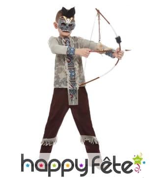 Costume de guerrier squelette indien pour garçon