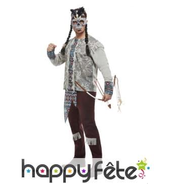 Costume de guerrier squelette indien pour homme