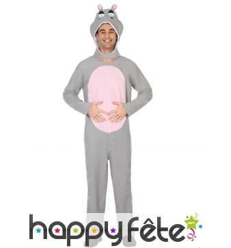 Combinaison de hippopotame pour adulte