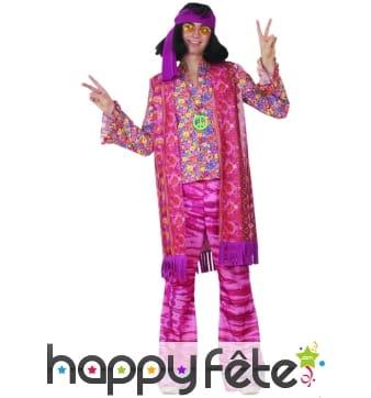 Costume d'Hippie homme violet
